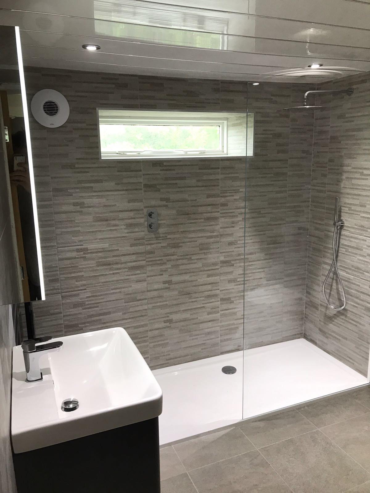Grey, Black and Silver Bathroom
