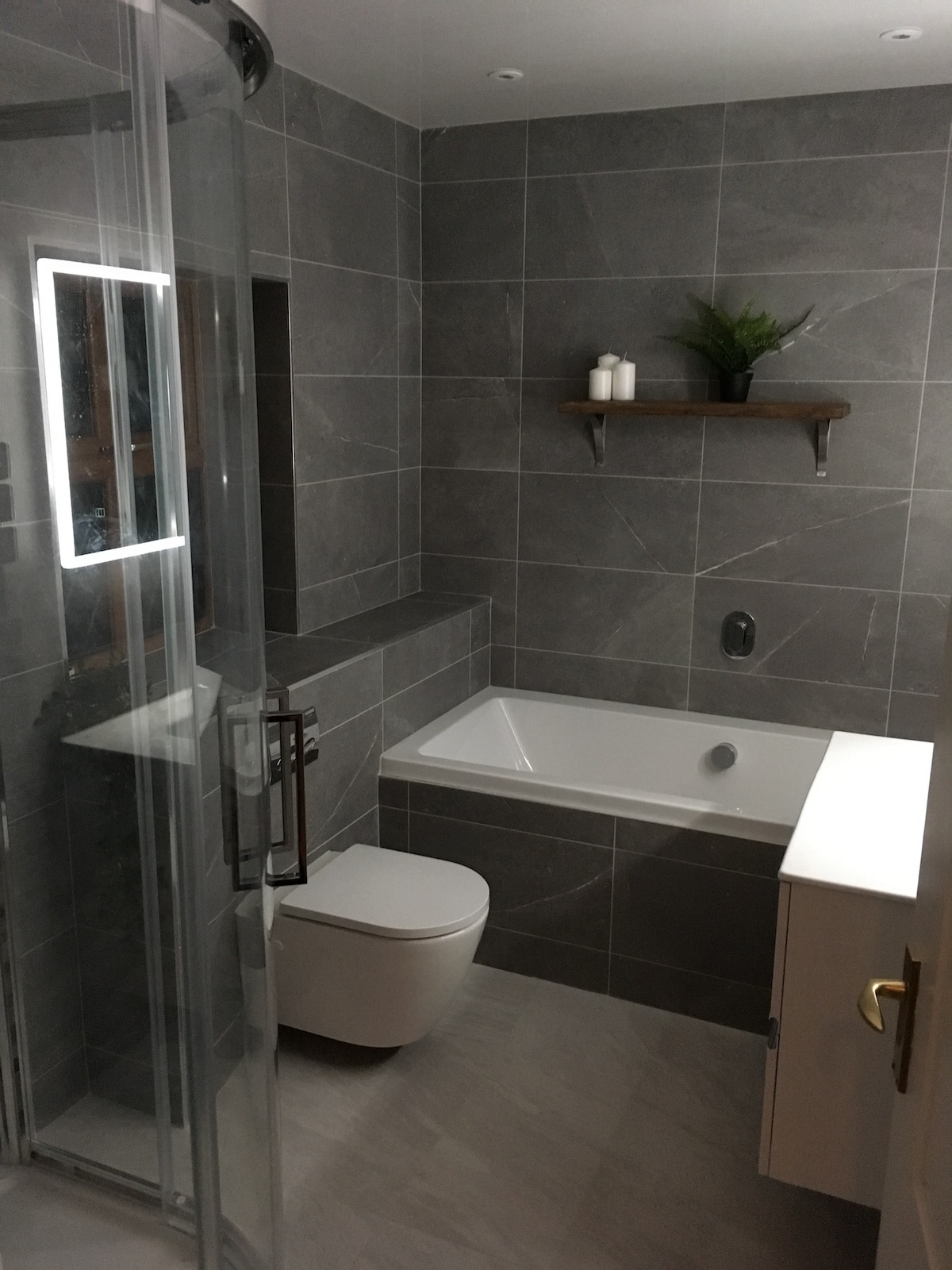 Bathtub and Separate Shower