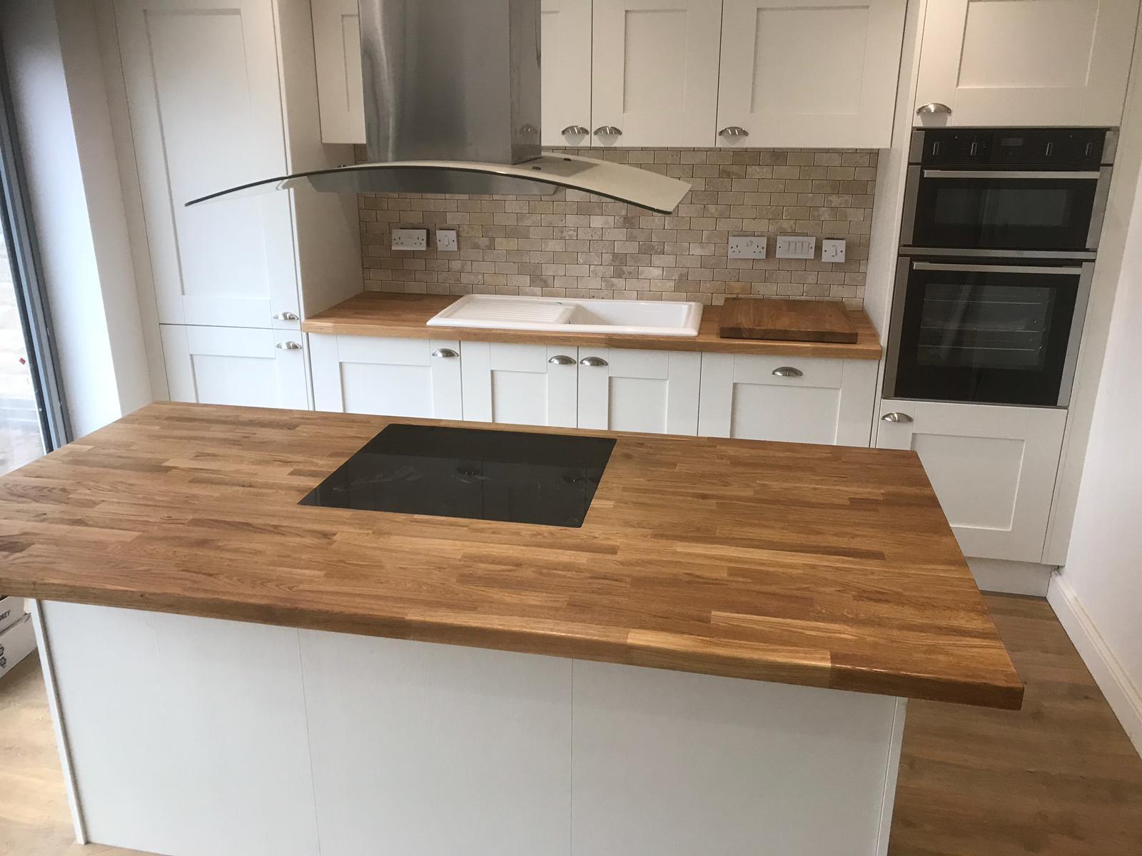 White and Light Wood Kitchen