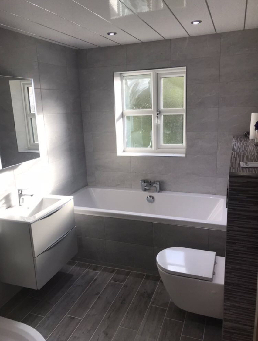 Light Grey Bathroom Install