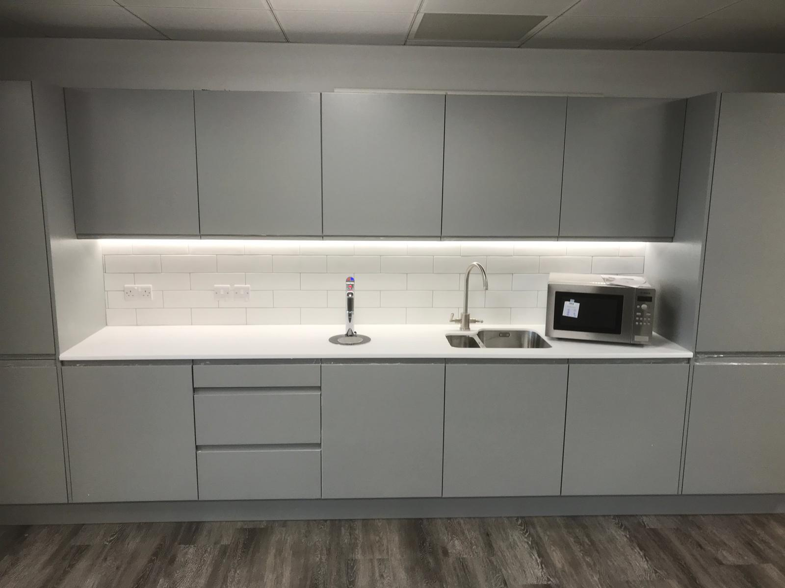 Grey Kitchen for an Office